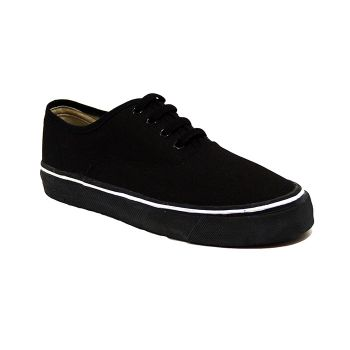 Bata Black Canvas Tennis Shoes-439-6023