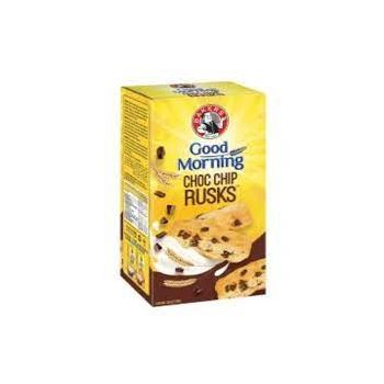 BAKERS GOODMORNING CHOC CHIP RUSKS 450G
