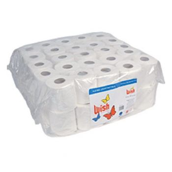 Wish Tissue Rolls 1ply 50s